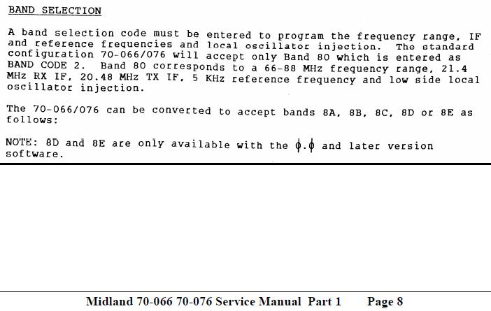 Extract from Page 8 of the Service Manual